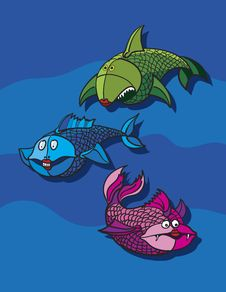 Free Fish Cartoon Royalty Free Stock Image - 18907656