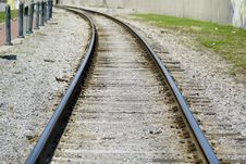 Free Curve In The Tracks Royalty Free Stock Images - 18907719