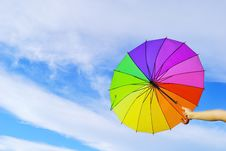Free Multicolored Umbrella Royalty Free Stock Images - 18909419