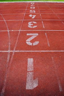 Number And Running Track Royalty Free Stock Photography