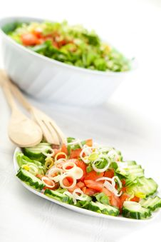 Vegetables Salad Royalty Free Stock Photos
