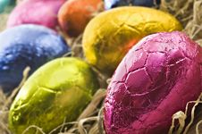Free Colorful Easter Eggs In Straw Royalty Free Stock Images - 18909789
