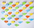 Free Origami Paper Hearts Royalty Free Stock Images - 18911429