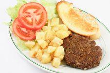 Free Hamburger Steak And Potatoes Stock Image - 18910521