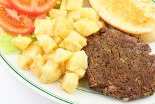 Free Hamburger Steak And Potatoes Stock Photos - 18910533