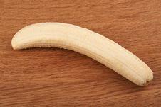 Free Ripe Peeled Banana Royalty Free Stock Photography - 18910897