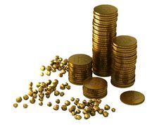 Free 3d Gold Bars And Coins Royalty Free Stock Photos - 18910978