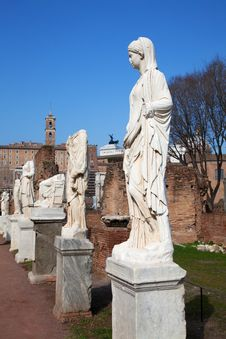 Free Ruins Of The Forum Royalty Free Stock Photos - 18911038