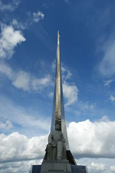 Moscow, Monument To Subjugators Of Space Royalty Free Stock Image