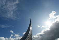 Moscow, Monument To Subjugators Of Space Royalty Free Stock Photos