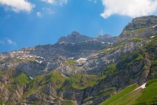 Cable Car In Alps Stock Photography