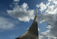 Moscow, Monument To Subjugators Of Space Royalty Free Stock Photography