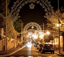 Free Beautiful Street At Midnight In South Italy Royalty Free Stock Photo - 18911405