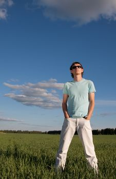 Free Young Man Outdoors Royalty Free Stock Photography - 18911557