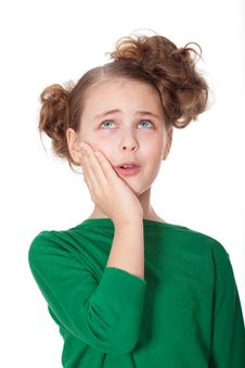 Free Worried Girl With Teethahce Stock Photo - 18911790