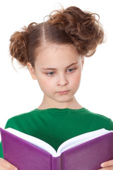 Free Surprised Girl Looking At Book Stock Image - 18911791