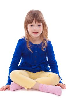 Free Blonde Smiling Little Girl Sitting Royalty Free Stock Photo - 18911805