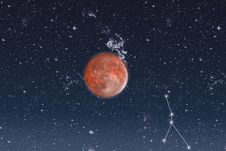 Free Space.Constellation Of Cancer Royalty Free Stock Image - 18912376