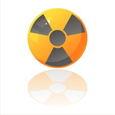 Free Nuclear Sign Isolated On White Stock Photography - 18912862