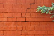 Painted Brick Block Wall Royalty Free Stock Image