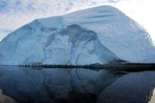 Reflection Of Iceberg In The Sea Stock Images