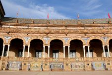Famous Plaza De Espana Royalty Free Stock Photos