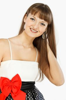 Beautiful Fashion Girl Smiling Royalty Free Stock Image
