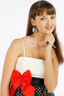 Beautiful Fashion Girl Smiling Royalty Free Stock Photography