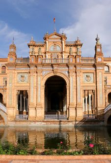 Famous Plaza De Espana Royalty Free Stock Photography