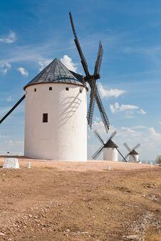 Windmills At Campo De Criptana Stock Photography