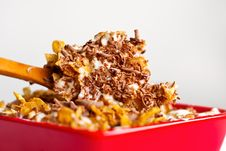 Corn Flakes With Chocolate Stock Photo