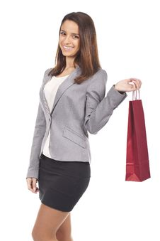 Free Woman Holding Shopping Bags Royalty Free Stock Images - 18914259