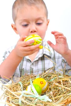 Free For Easter Eggs. Stock Photography - 18914902