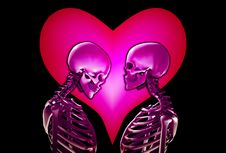Free Skeletons With Love Heart Royalty Free Stock Photos - 18915248