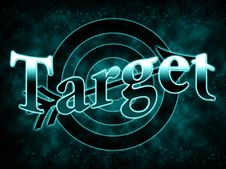 Free Gradient Inscription Target Stock Image - 18915621