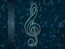 Free Glowing Treble Clef Stock Image - 18915631