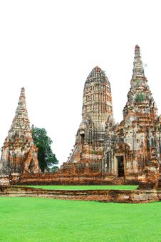 Chaiwatthanaram Temple, Ayutthaya In Thailand Stock Photos