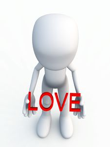 Figure With The Word Of Love Royalty Free Stock Images