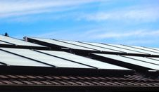 Solar Roof Panels Stock Photo
