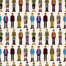 Free Seamless Young Boy Pattern Royalty Free Stock Image - 18917566