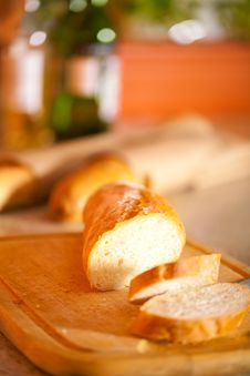 Free Slice Of Fresh Baguette Royalty Free Stock Image - 18917826