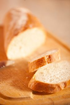Free Crusty Slices Of Fresh Baguette Stock Photos - 18917843