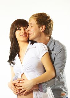 Free Young Couple Expecting A Baby Royalty Free Stock Photography - 18918047