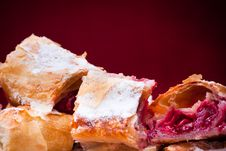 Cherry Pie Slices Royalty Free Stock Photos