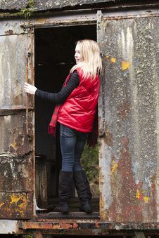 Free Girl In Red Stock Photography - 18918802