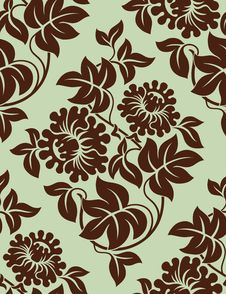 Free Seamless Floral Background. Stock Photography - 18919232