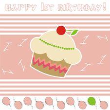 Free Happy 1st Birthday! Stock Image - 18919621