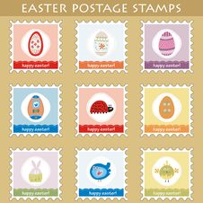 Free Easter Postage Stamps Royalty Free Stock Photo - 18919715