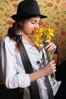 Free Portrait Of The Beautiful Stylish Brunette Woman Royalty Free Stock Photography - 18920137