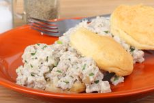 Sausage And Biscuits Stock Images